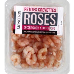 Monoprix Petites crevettes roses décortiquées & cuites
