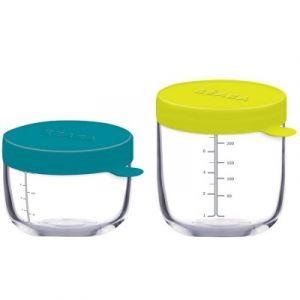 Beaba Portion - 2 pots de conservation en verre 250 ml