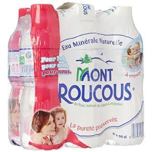 Mont Roucous Eau minérale naturelle - 6 bouteilles x 50 cl