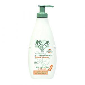 Le Petit Marseillais Répare & Apaise - Lait Hydratant Hypoallergénique Sève d'Aloe Vera & Calendula