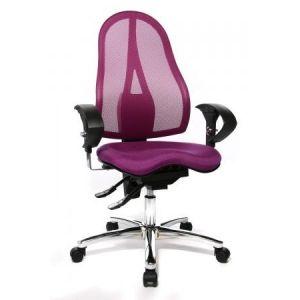 Topstar ST19U G03 - Siège de bureau Sitness 15, avec accoudoirs réglables, revêtements tissu et résille, coloris violet