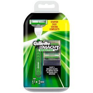 Gillette Mach3 Sensitive - Rasoir pour homme et 3 recharges
