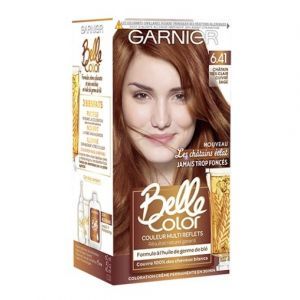 Garnier Belle color brunette coloration 6.41 chatain tres clair cuivre sage