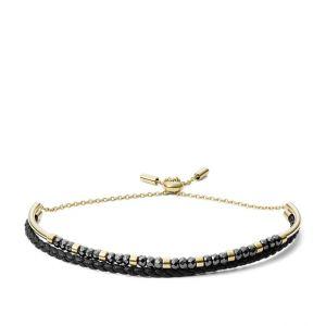 Fossil Bracelet JF03272710 - CLASSICS Acier Doré Noir Femme