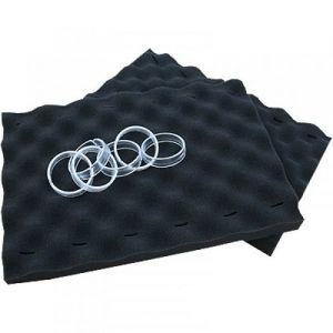 Brosses mousse noire x 2 pour robot piscine Zodiac + 14 Clips