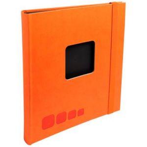 Exacompta 16986E - Album photos SoDeco 32x22 cm, 50p. noires/100 photos, reliure à spirales, élastique de fermeture