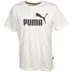 Puma T-shirt Ess logo tee white mc blanc - Taille EU L,EU XL