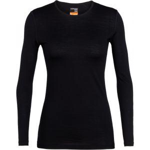 Icebreaker Wmns 200 Oasis LS Crewe Black Sous-vêtements techniques