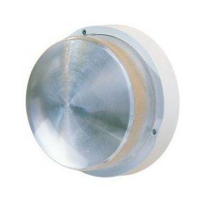 Ebénoid Hublot extérieur fluo 1X9W Ø 225mm blanc polycarbonate lampe 4000K 2G7 ballast elec CL2 IK08 IP44 100W antichoc 078453