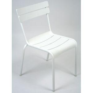 Fermob Chaises de jardin empilables Aluminium (par 2) LUXEMBOURG Blanc