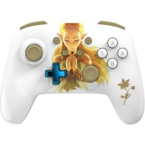 PowerA Manette Sans Fil Switch Zelda Blanche