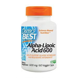 Doctor's best Meilleur Acide Alpha-Lipoïque 600 - 600 mg 60 Capsules Végétales
