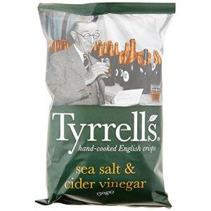 Tyrrell's Sachets de Chips Sel de Mer/Vinaigre de Cidre 150g