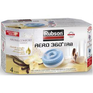 Rubson Recharges Absorbeur Aero 360° Arôme Vanille - Lot de 4