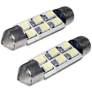 EUFAB Ampoule navette LED pour l'habitacle 13294 C5W 12 V S8.5 (Ø x L) 10 mm x 36 mm 1 paire