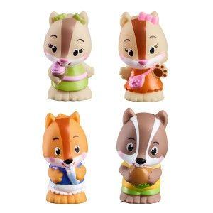 Vulli 4 figurines de la famille NutNut