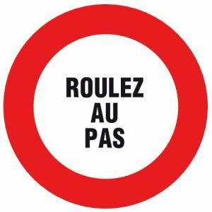 Novap Disque d'interdiction rouge - diamètre 300 mm - Roulez au pas
