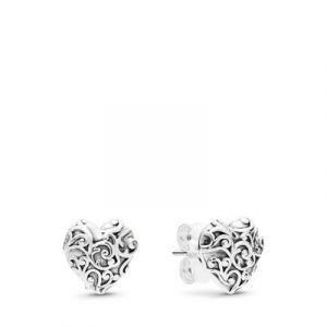Pandora Boucles d'oreilles 297693 - Boucles d'oreilles Coeurs Royaux Femme