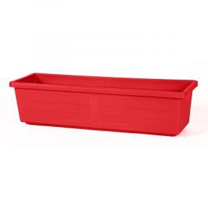 Eda Plastiques Jardinière Miami 60 x 18,5 x 15,5cm 12L - Rouge rubis - EDA