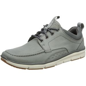 Clarks Orson Bay, Sneakers Basses Homme, Gris (Grey Nubuck), 44.5 EU