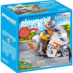 Playmobil 70051 - City Life Les Secouristes - Urgentiste et moto - 2020