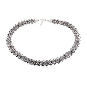 Blue Pearls Cry 8009 T - Collier en cristal argenté pour femme