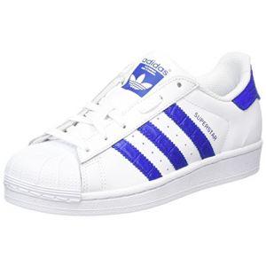 Adidas Superstar, Sneakers Basses Garçon, Blanc (Footwear White/Bold Blue/Bold Blue), 37 1/3 EU