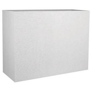 Eda Plastiques Jardinière muret Loft Graphit L blanc 46 L Eda