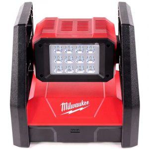 Milwaukee M18 HAL-401 Projecteur de chantier à batterie rechargeable avec 3000 sorties de lumière Lumen + 1x Batterie 4,0 Ah - sans chargeur