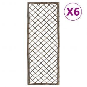 VidaXL Treillis de jardin 6 pcs 45x170 cm Saule