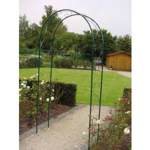 Gardman Arche de jardin Double en métal 1,10 x 2,30 m