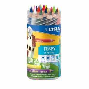 Lyra Boîte de crayons Ferby - 18 crayons couleurs