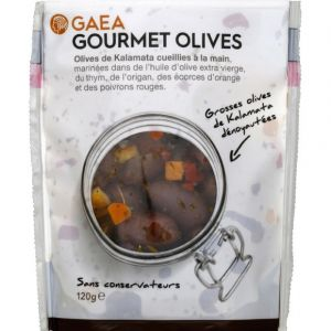 Image de Gaea Grosses olives de Kalamata dénoyautées - Gourmet Olives