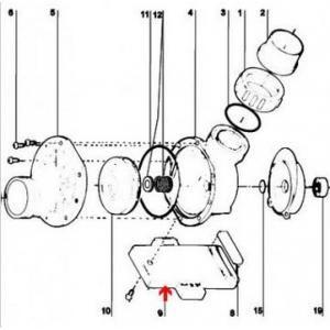 Procopi 595107 - Pied de support de pompe Tiper 2