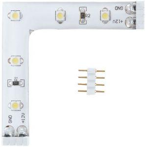 Wellindal Connecteur en L flexible blanc chaud