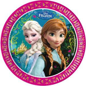 """Amscan 8 assiettes Frozen """"La Reine des Neiges"""" (23 cm)"""
