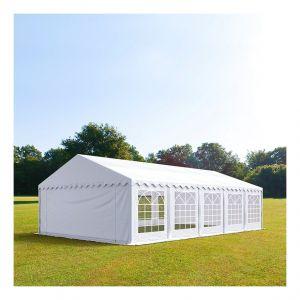 Intent24 Tente de réception 5 x 10 m PVC anti-feu blanc