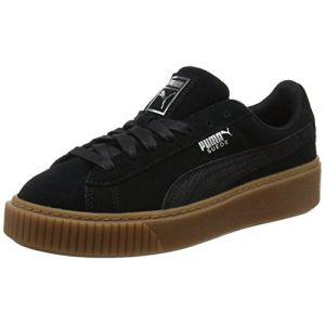 Puma Suede Platform Animal, Sneakers Basses Femme, Noir Black-Silver 01, 40 EU