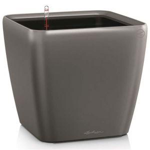 Lechuza Pot Quadro Premium LS 28 - kit complet, anthracite métallisé 28 cm