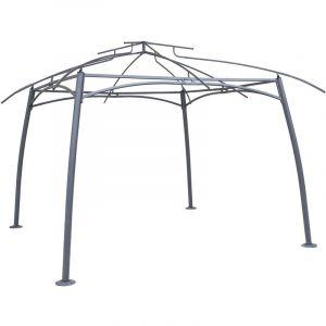 Hesperide Structure en acier pour la tonnelle Maldives 3,3 x 3,3 m Graphite