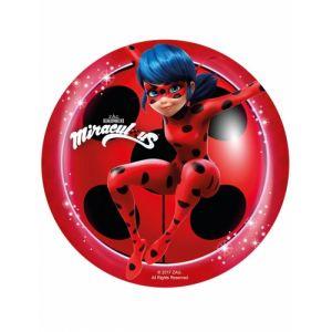 Disque en sucre Ladybug 20 cm