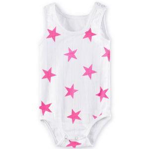 Aden + Anais Pink Medium Star - Body sans manches