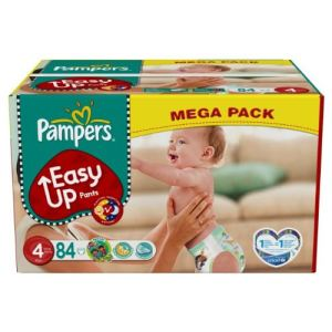 Pampers Easy Up taille 4 Maxi (8-15 kg) - Mega pack x 84 couches