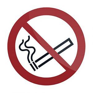 Fixman Pancarte de sécurité autocollante 100 x 100 mm Interdiction de fumer - 769154