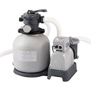 Intex 2800 GPH Pompe Filtre à Sable W/RCD, 220-240 V, Gris, 62 x 56 x 60 cm, 28648 GS