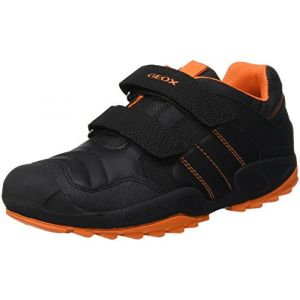 Geox J New Savage A, Garçon, Noir (Black/Orange C0038), 29 EU