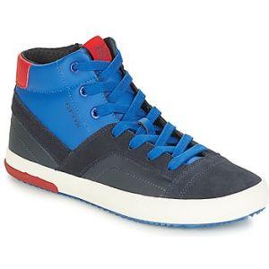 Geox J Alonisso A, Baskets Hautes Garçon, Bleu (Navy/Red C0735), 39 EU