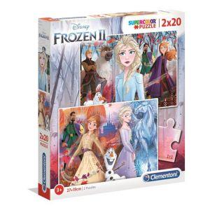 Clementoni Puzzle SuperColor 2x20 pièces - La Reine des Neiges 2