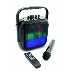 Caliber HPG516BTL - Haut-parleur Bluetooth portatif FM LED avec batterie intégrée