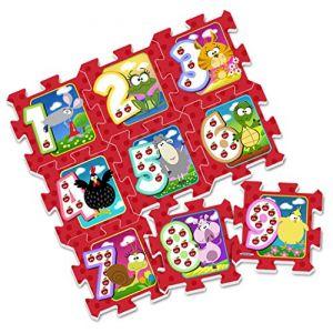 Stamp Tapis puzzle en mousse Chiffres et Animaux